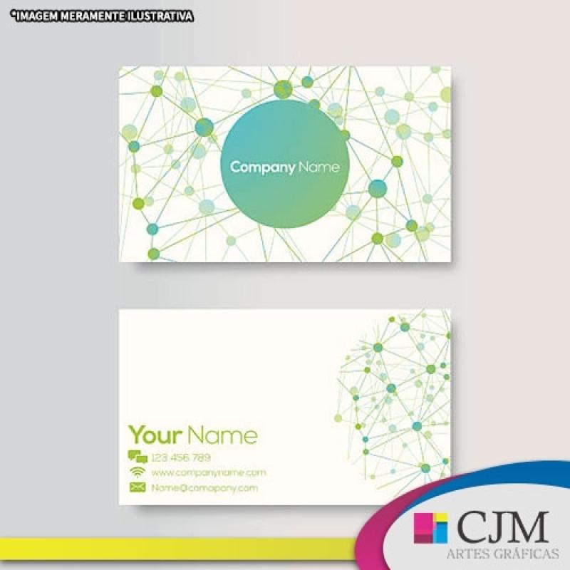 Cartão de Visitas Baixo Relevo - C J M - Artes Gráficas