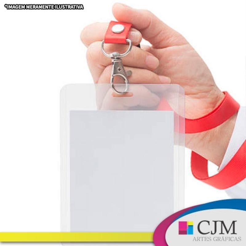 Crachá de Identificação Simples - C J M - Artes Gráficas